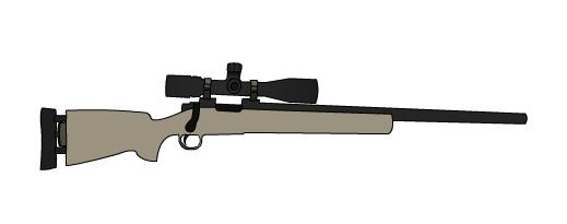 Drawn snipers bolt action rifle Action sniper Drawing bolt a