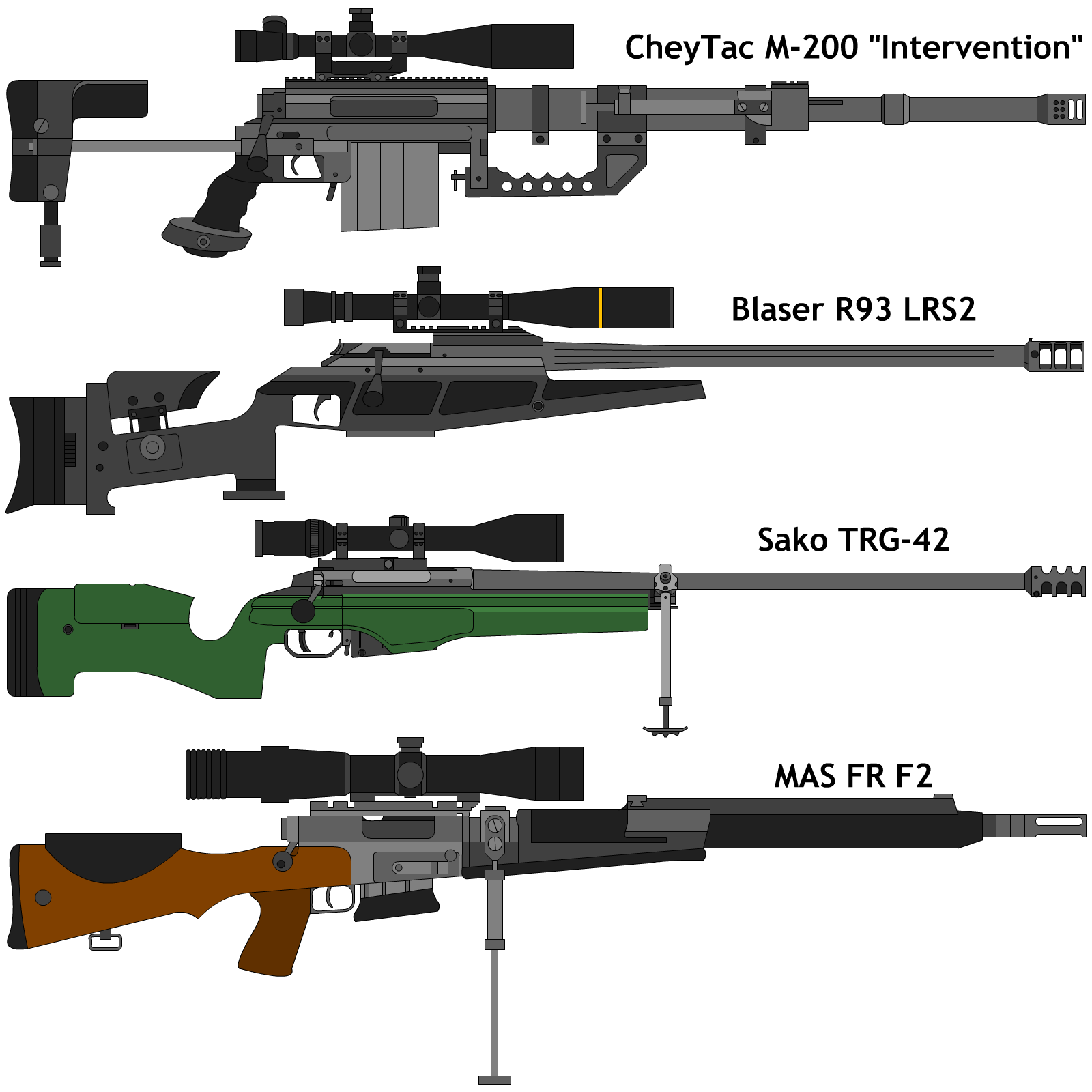 Drawn snipers bolt action rifle Sniperrifles DeviantArt by bolt action
