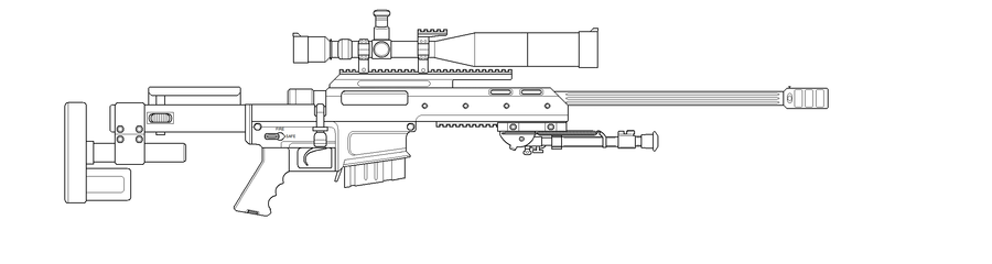 Drawn snipers bolt action rifle By on ACTION MAGNUM by