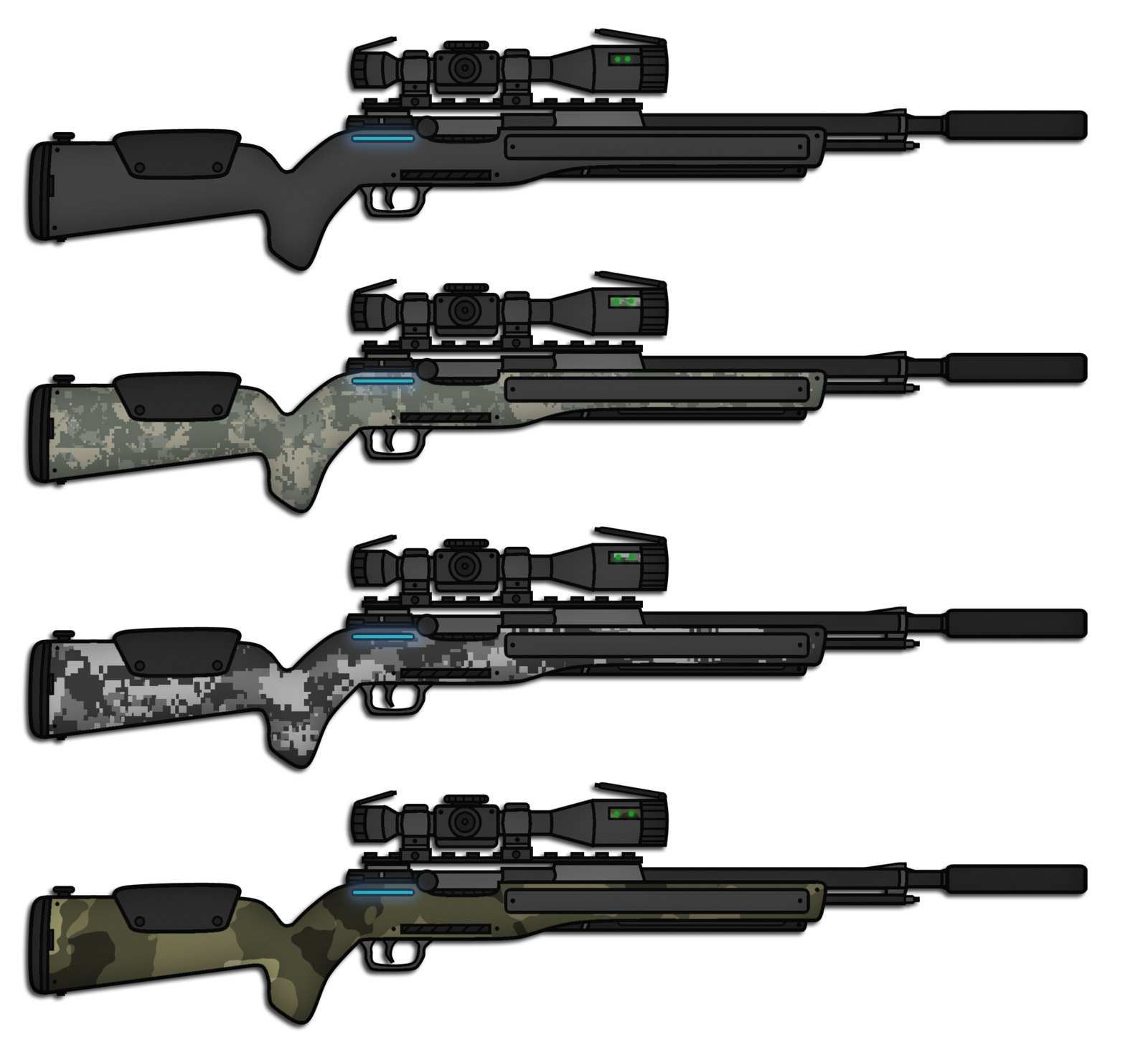 Drawn snipers bolt action rifle Skorpion66 DeviantArt 287 Rifle by