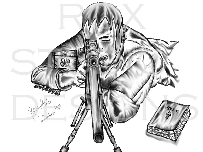 Drawn snipers comic DeviantArt on rox52 Concept by