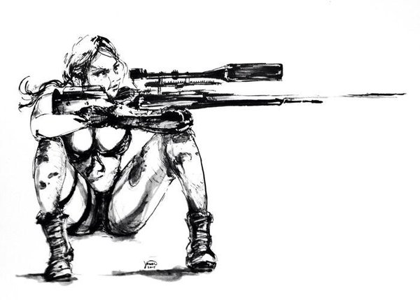 Drawn snipers comic #mgsv #mgs #quiet