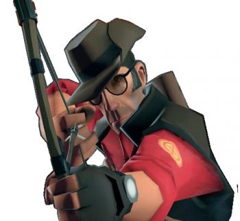 Drawn snipers fire Wiki TF2 Wiki drawn huntsman