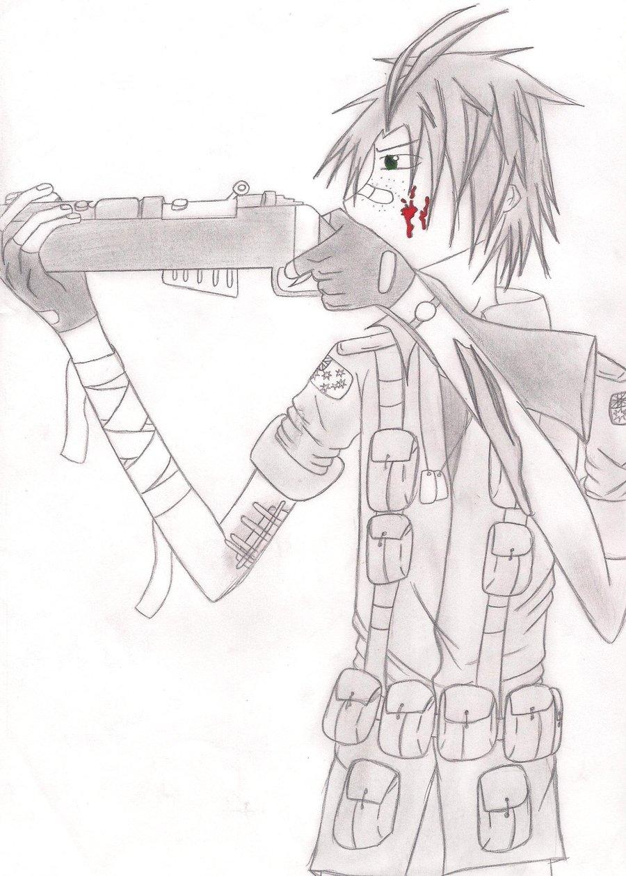 Drawn snipers korean war APH sniper girl  bad