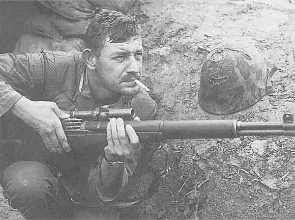 Drawn snipers korean war M1C rifle Sniper Sniper M1C