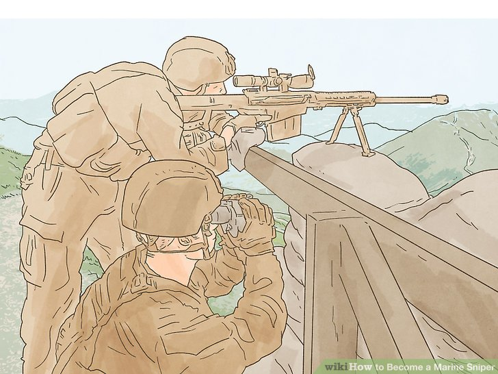 Drawn snipers marine sniper WikiHow Marine Pictures) Image Become