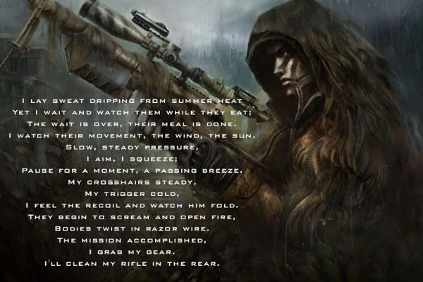 Drawn snipers marine sniper S U U Marine+Sniper+Quotes A