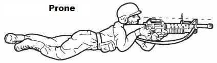 Drawn snipers prone Positions present variations for are