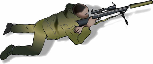 Drawn snipers prone You the position offer the