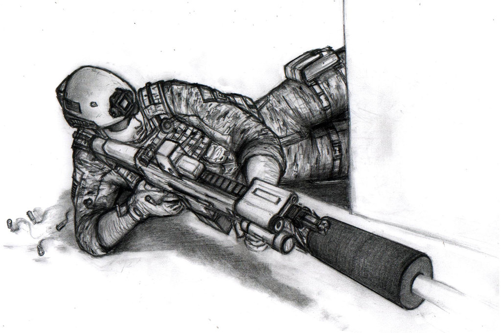 Drawn snipers prone 13 on Side favourites weapons