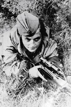 Drawn snipers red army Snipers female  Pavlichenko Lyudmila