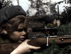 Drawn snipers red army отечественная Red Великая WWII 1945