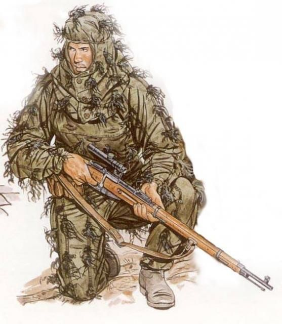 Drawn snipers red army On fusiles Ww2 y Soviet