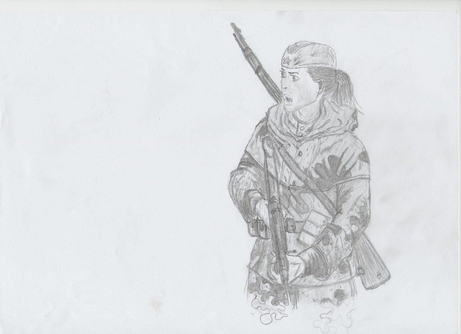 Drawn snipers red army Army  Red VassKholzovf DeviantArt