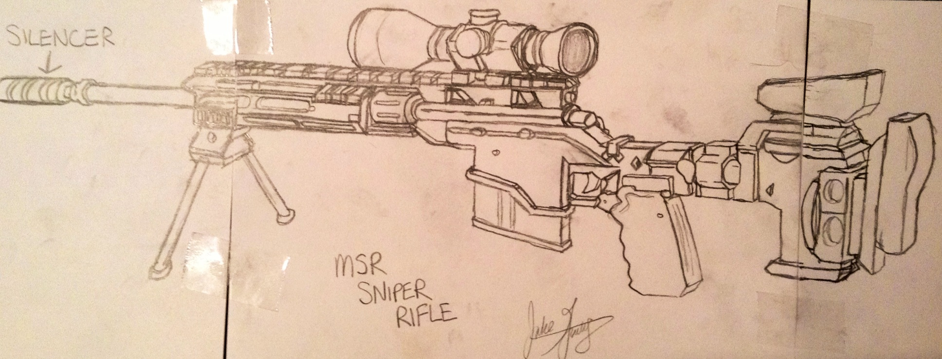 Drawn snipers sketch Call rifle art call MSR