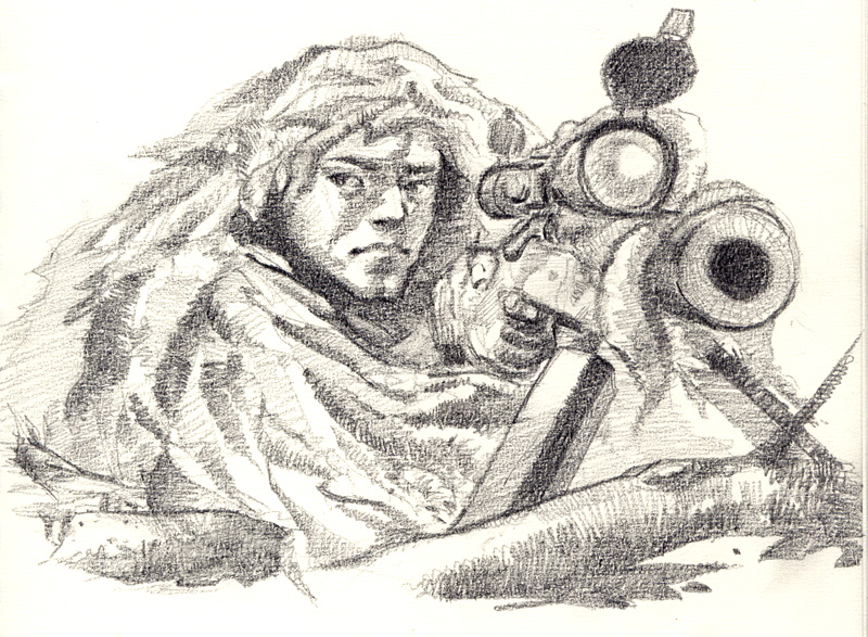 Drawn snipers sketch #9