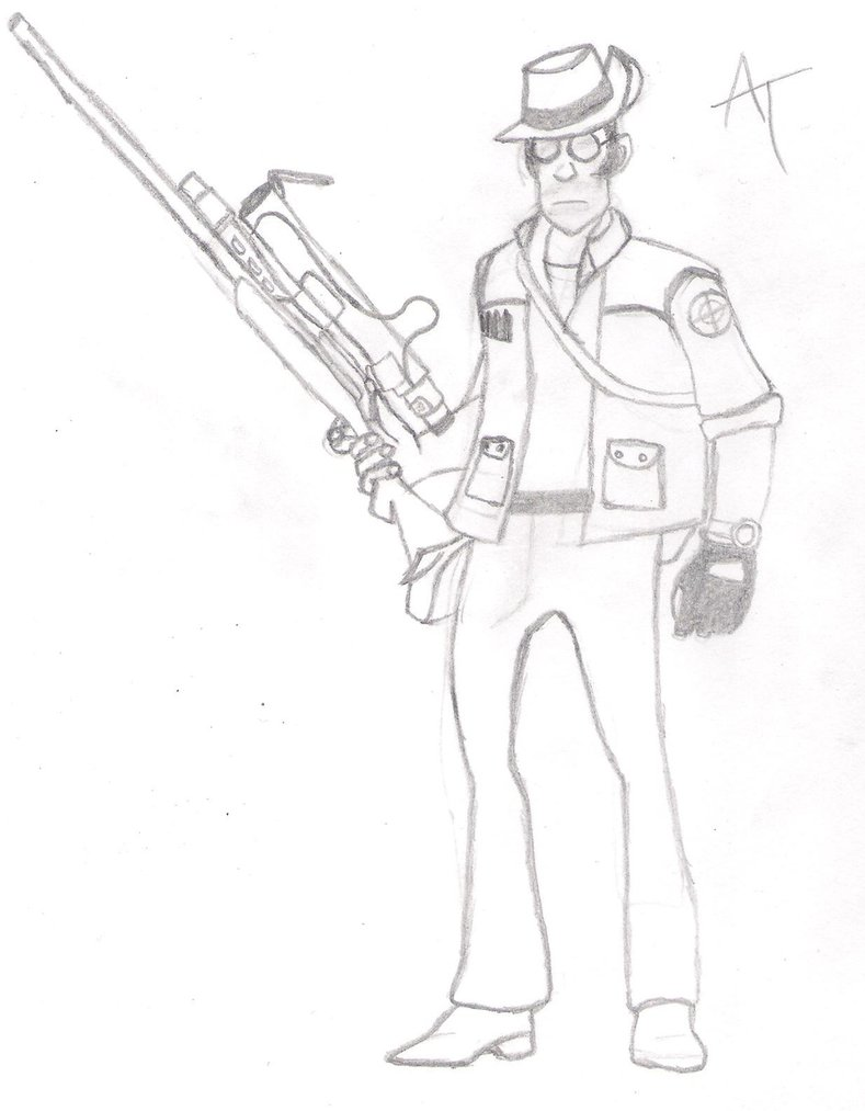 Drawn snipers sketch #5