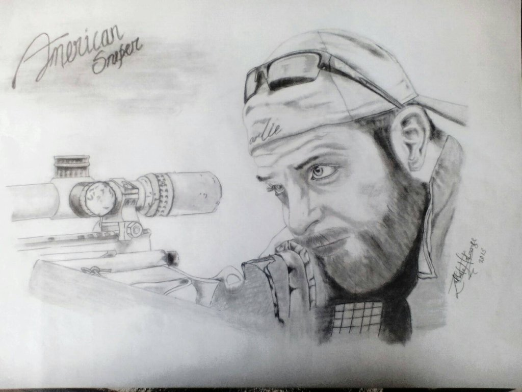 Drawn snipers sketch #8