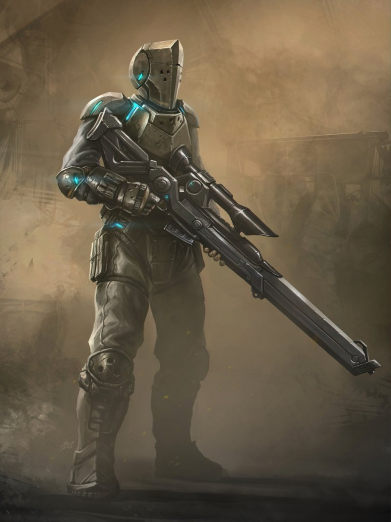 Drawn snipers space Fi Inspired by sci the