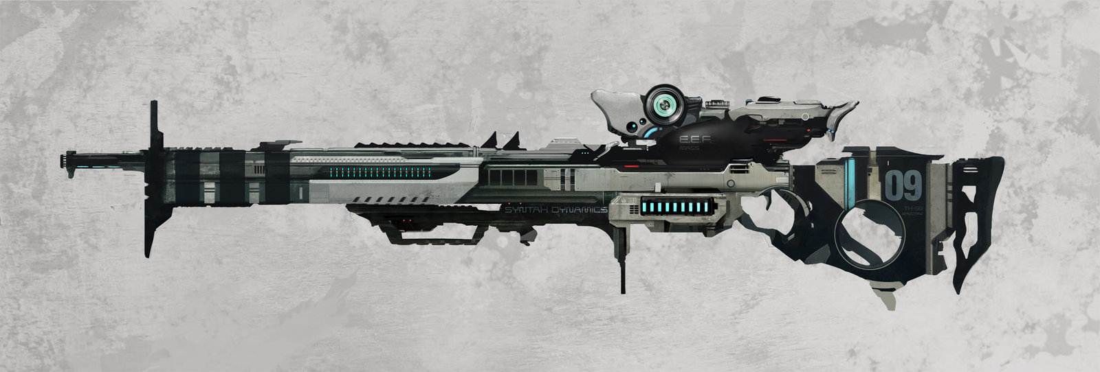 Drawn snipers space 50 on DeviantArt Rifle by