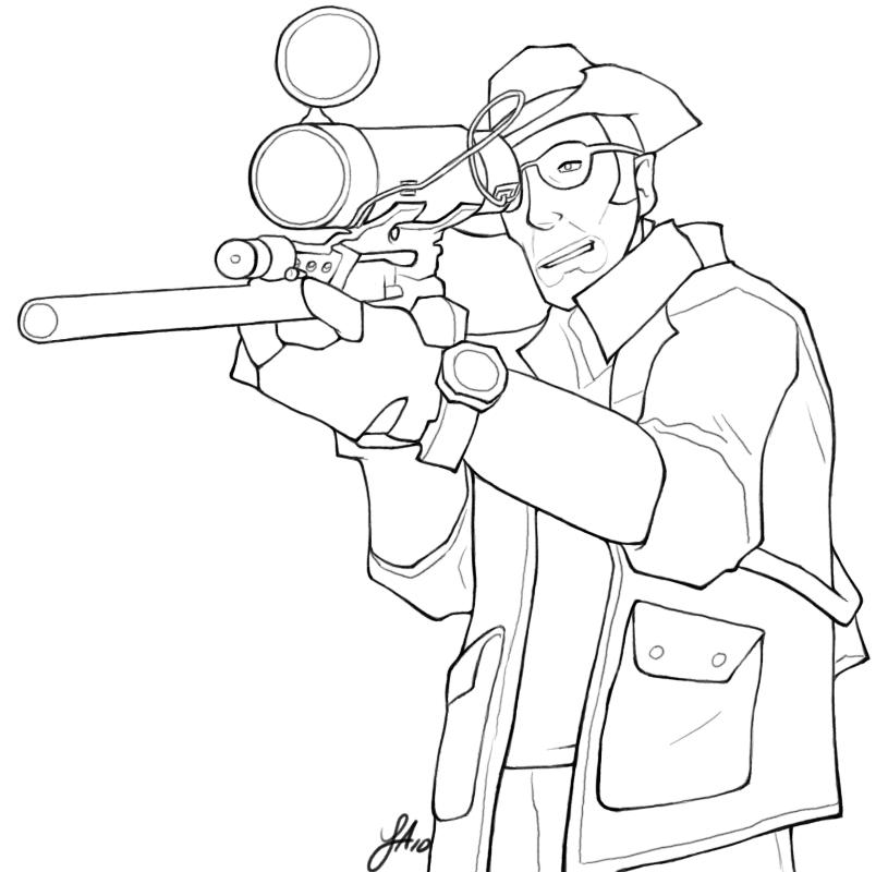 Drawn snipers tf2 Sniper TF2: Sniper by DeviantArt