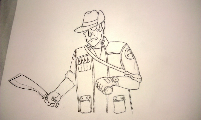 Drawn snipers tf2 JoeDeviant by Sketch Sketch Sniper