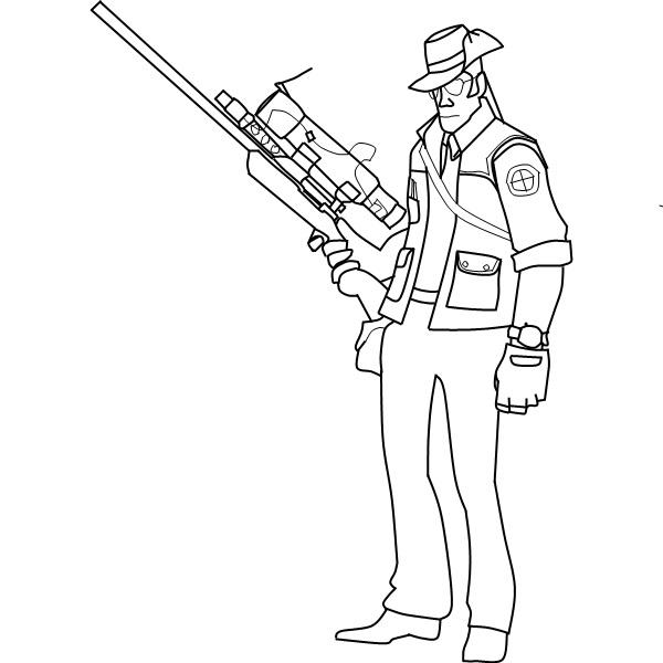 Drawn snipers tf2 DeviantArt ripperroo1 TF2 ripperroo1 Sniper