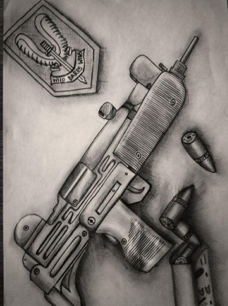 Drawn snipers uzi Uzi #guns of duty #uzi9mm