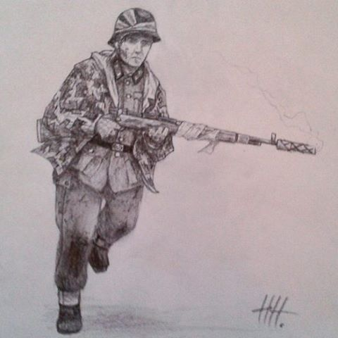 Drawn snipers wehrmacht A Mäkitalo videos Wehrmacht 'Juntti'
