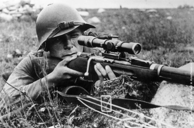 Drawn snipers wehrmacht Soviet school sniper A in