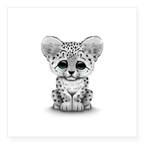 Drawn snow leopard Leopard Cute Drawing drawing Cute