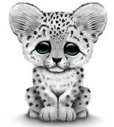 Snow Leopard clipart Leopard snow drawing Cute Drawing