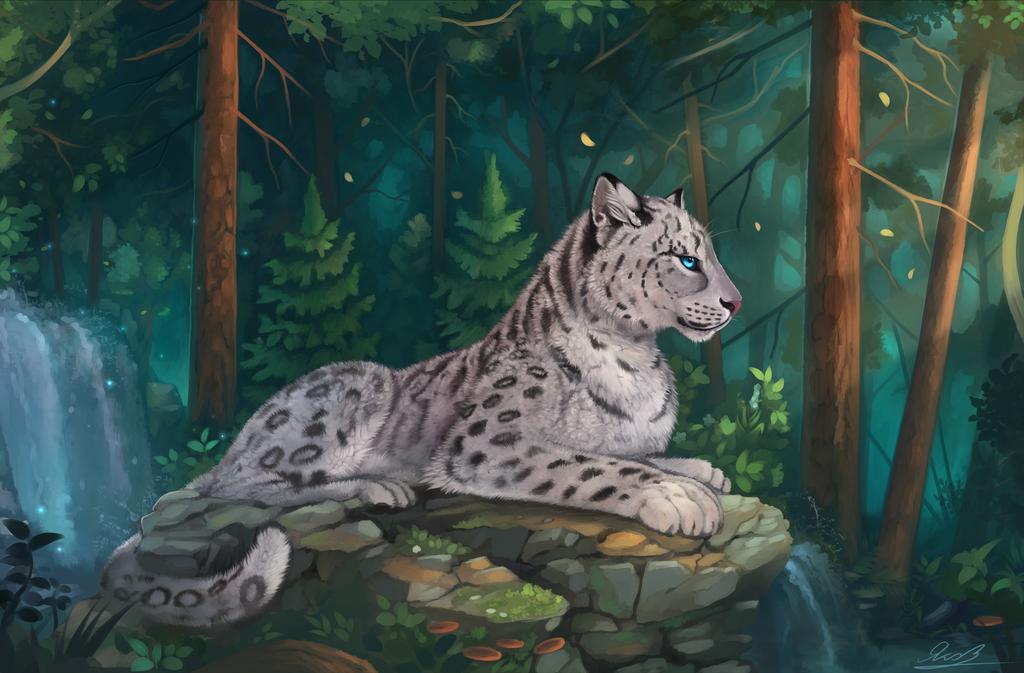 Drawn snow leopard deviantart Yakovlev Leopard vad Snow by