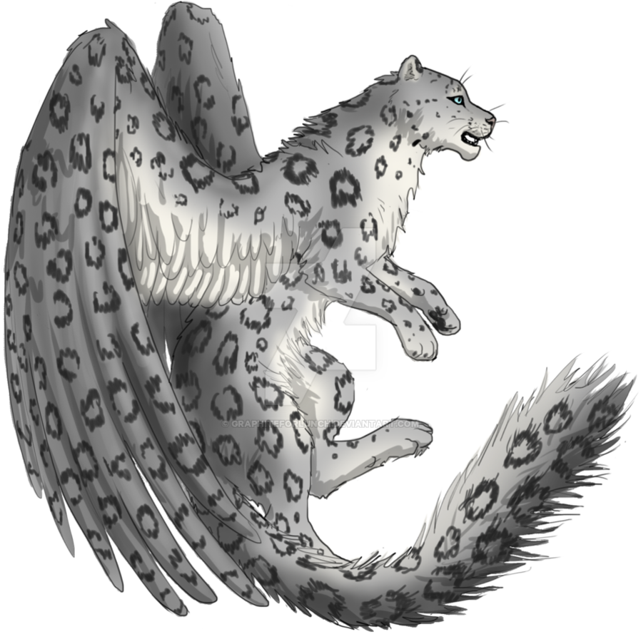 Snow Leopard clipart deviantart By Leopard Winged Snow Adoptable