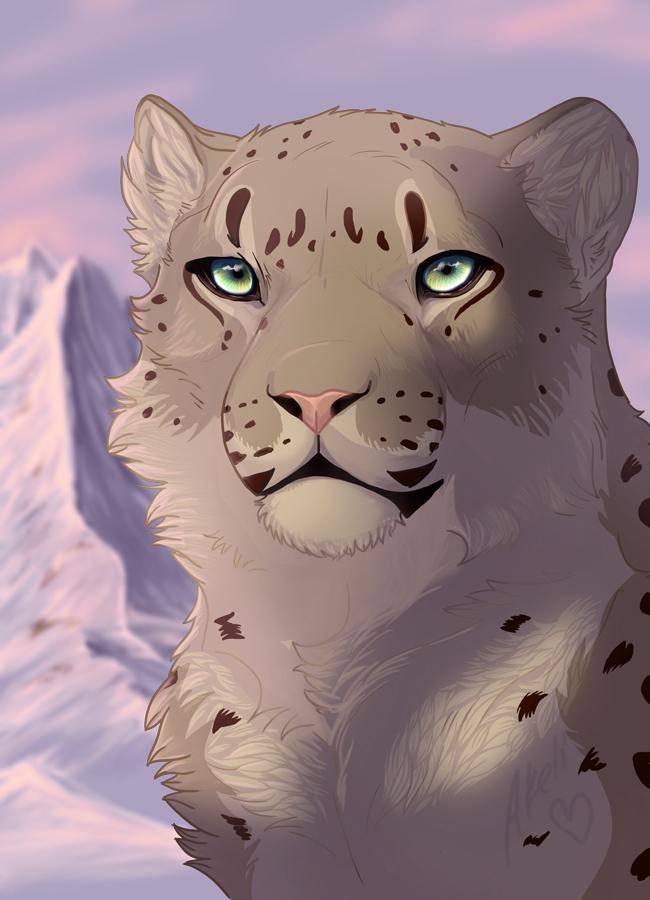 Drawn snow leopard deviantart By Snow akeli Atanu Leopard