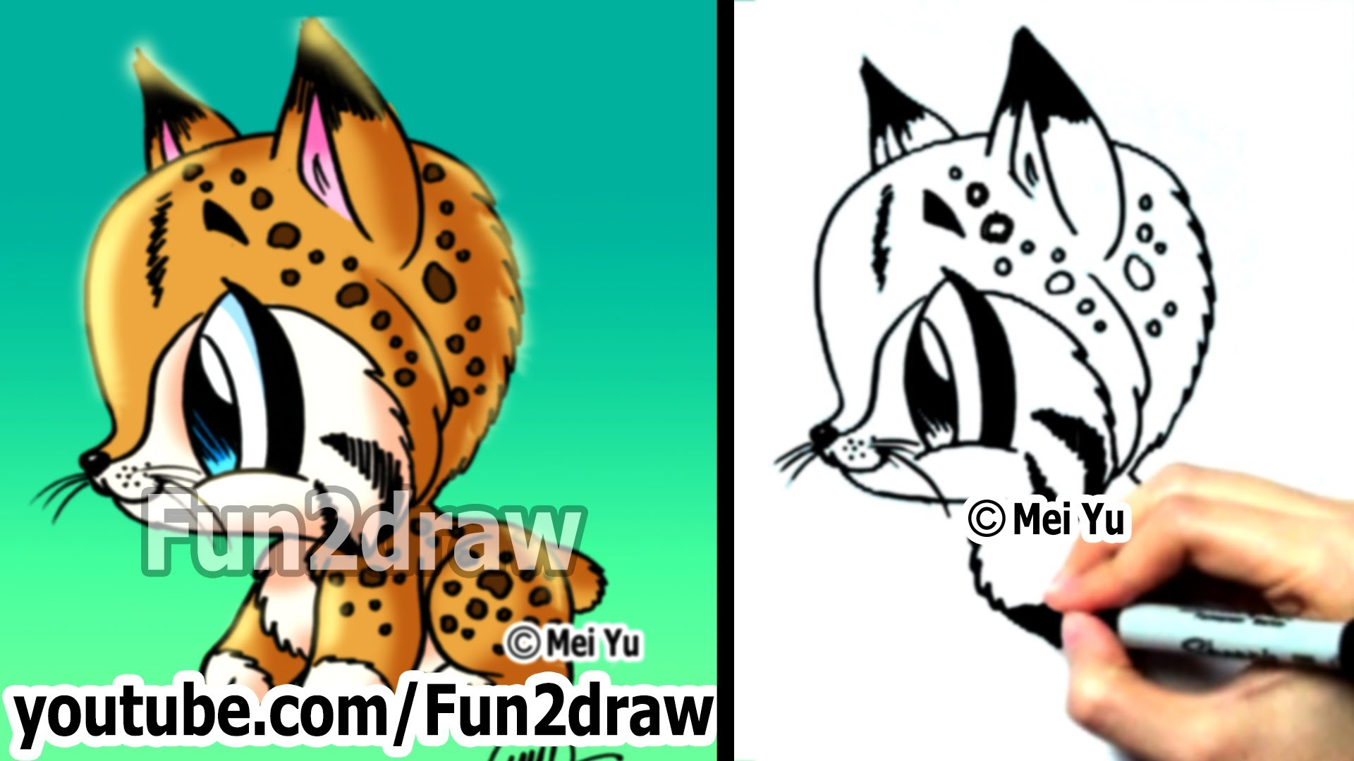 Ocelot clipart desert animal Fun2draw to How Animals Animals