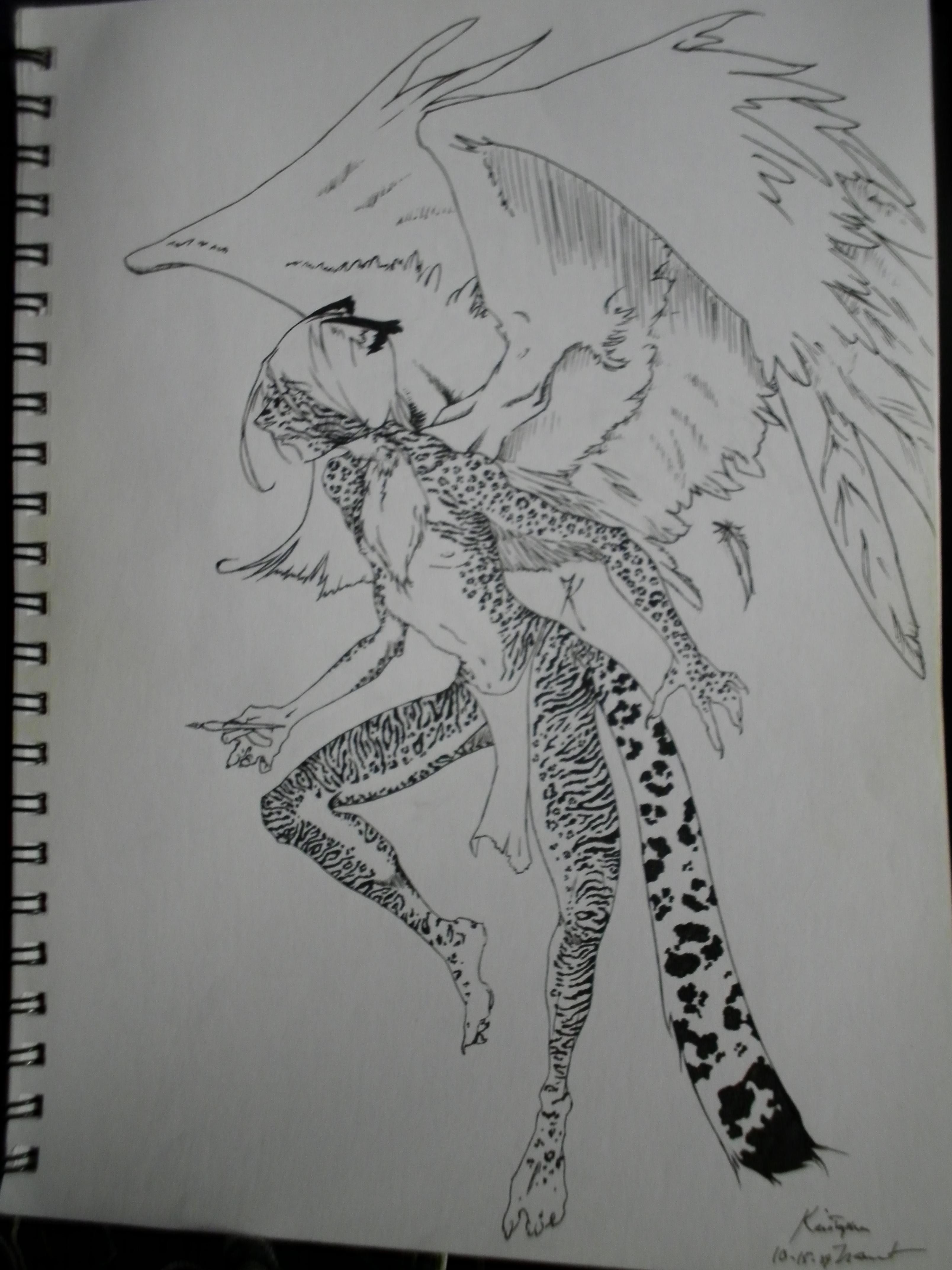 Drawn snow leopard furry I say draw I'm Fursona: