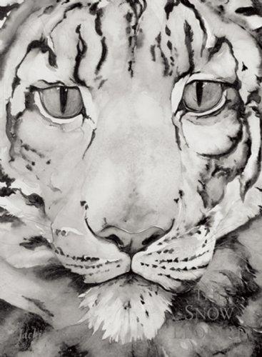 Drawn snow leopard ice The Tell The Bear Snow
