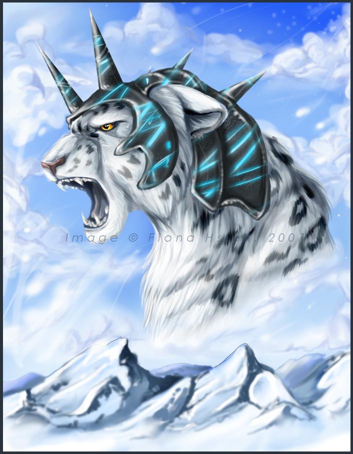 Drawn snow leopard ice Glory + Snow Snow Glory