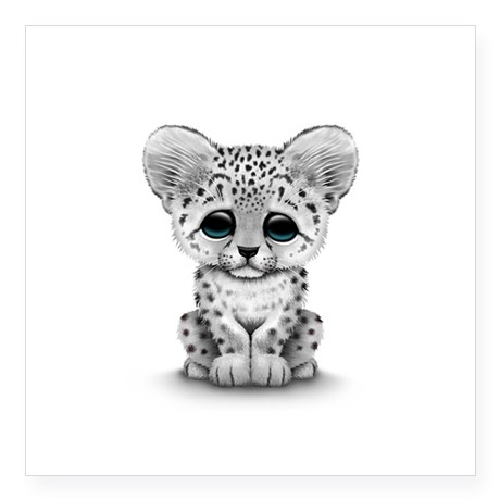 Baby clipart snow leopard Cute Sticker Baby  Cub