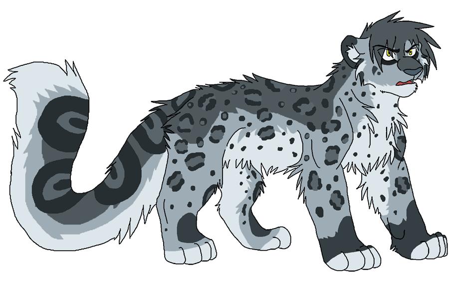 Drawn snow leopard lynx Big cat Smoothie An Plan