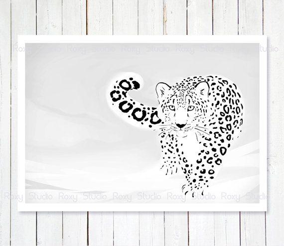 Drawn snow leopard pinterest $16 best Animal Leopard 21
