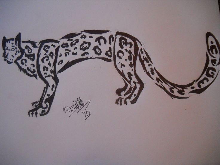 Drawn snow leopard pinterest 34 Leopard Tattoos Tattoo Cartoon