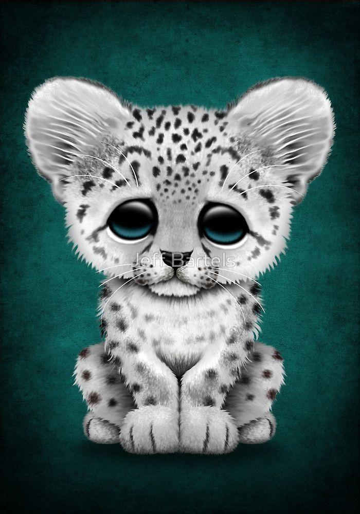 Drawn snow leopard snow tiger Jeff Cute  Cub Leopard