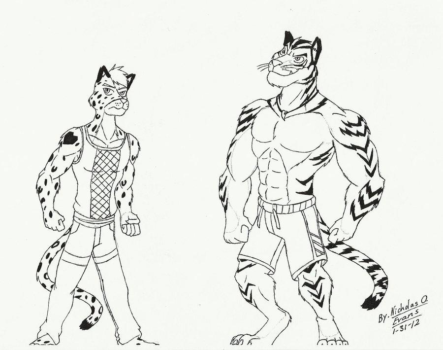 Drawn snow leopard snow tiger Eon54 A A by eon54