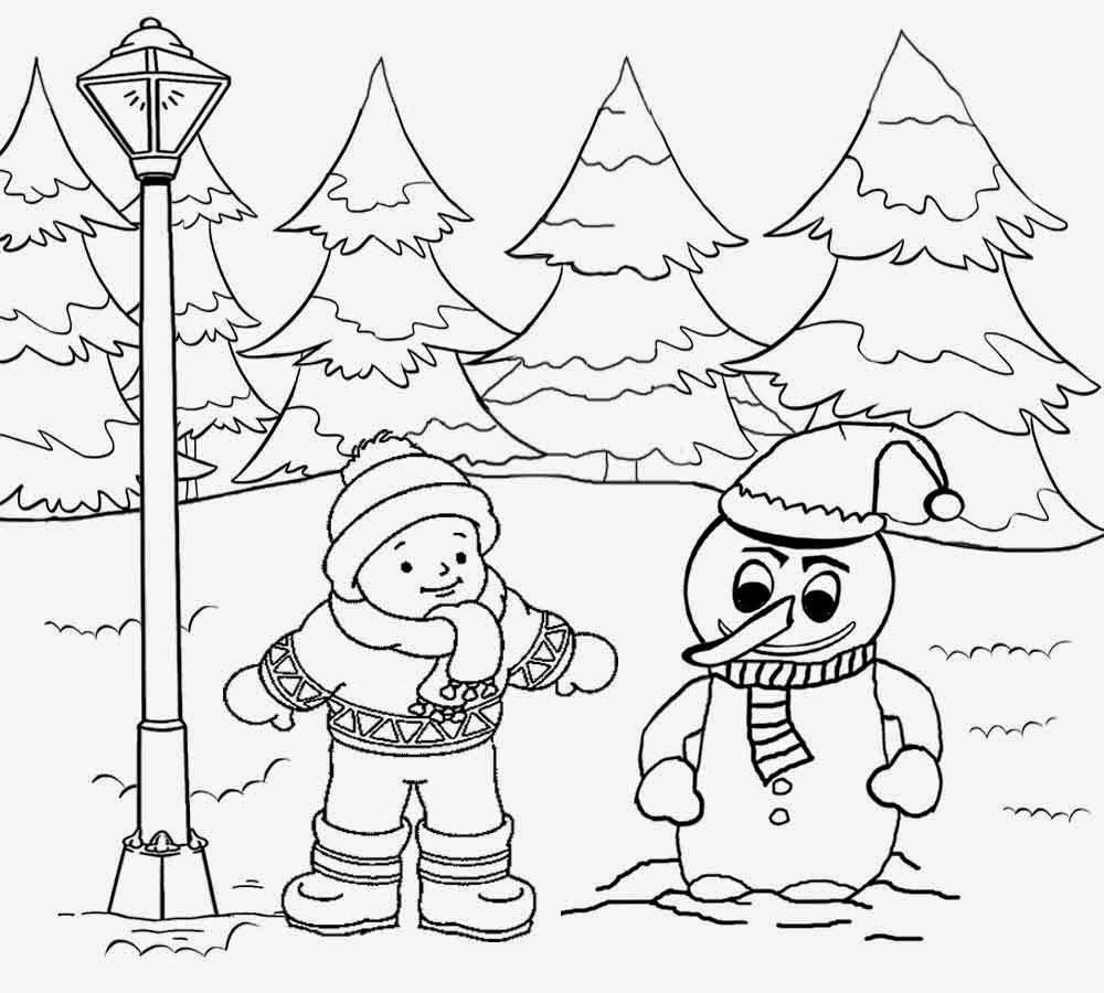 Drawn snowfall Art Color Pictures clip printable