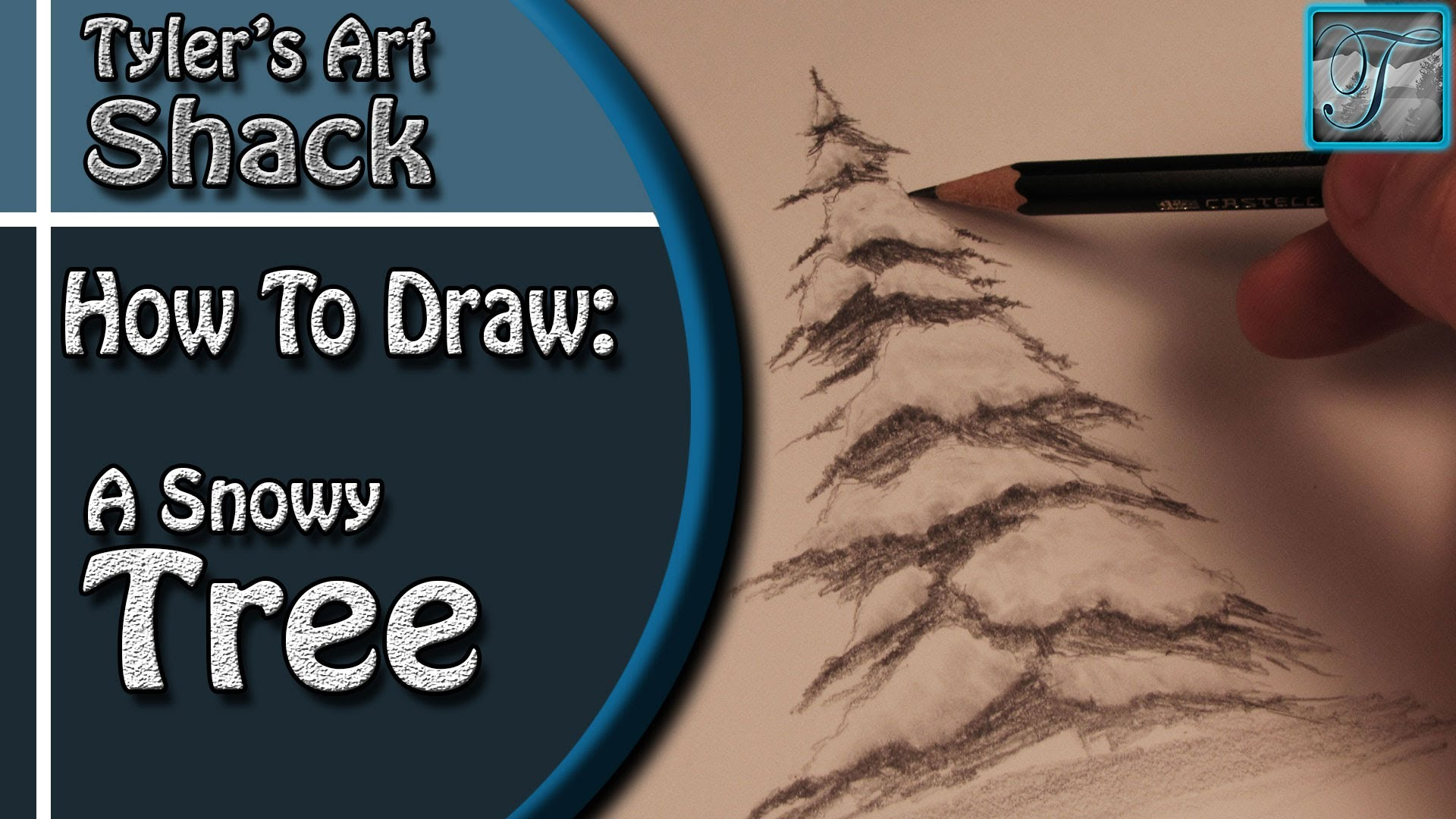 Drawn snow snowy tree YouTube Covered How Draw Tree