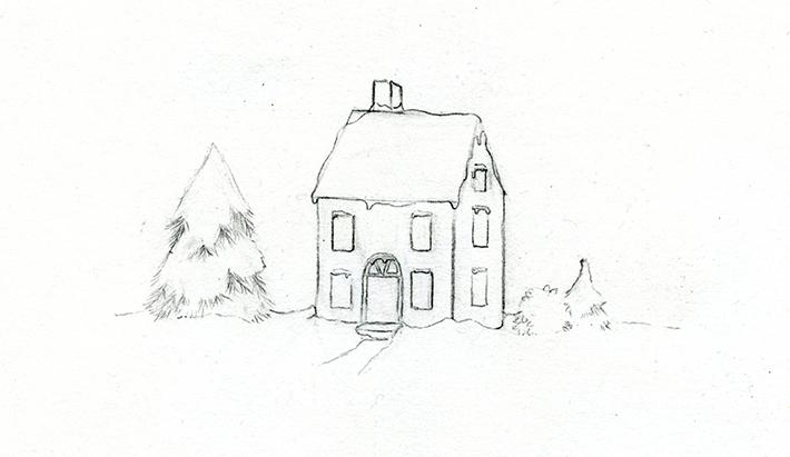Drawn snowfall snowy Learn drawing Winter a Create