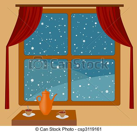 Windows clipart snowy Warm a Cosy Art snow
