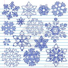 Drawn snowflake Drawn Words Sketchy drawn Snowflakes